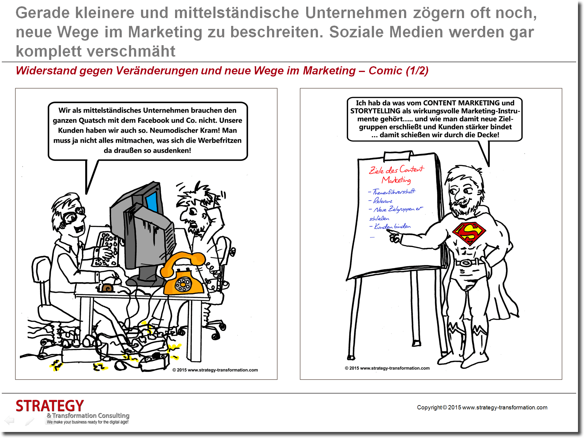 Neue Wege im Marketing - Comic