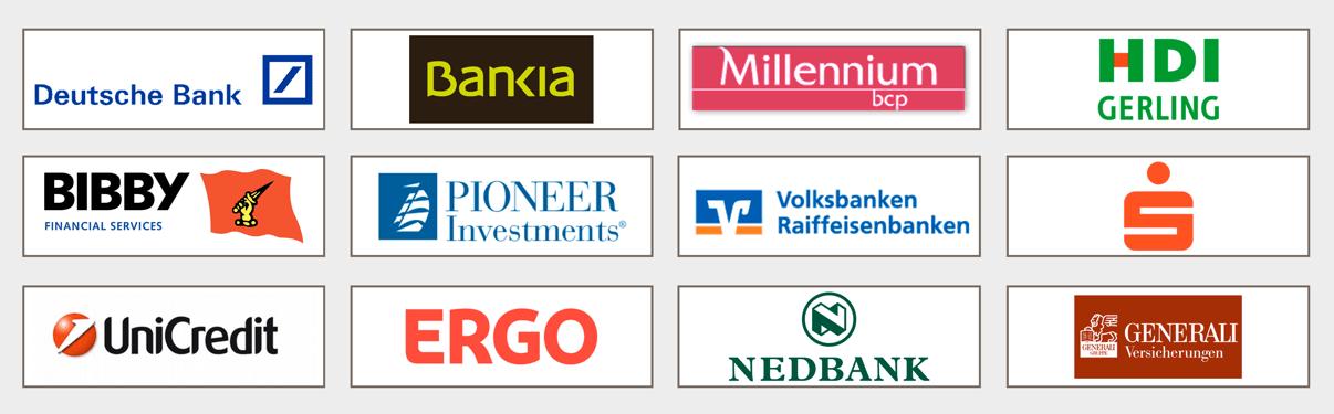 Unsere Kunden in Financial Services (Auswahl)