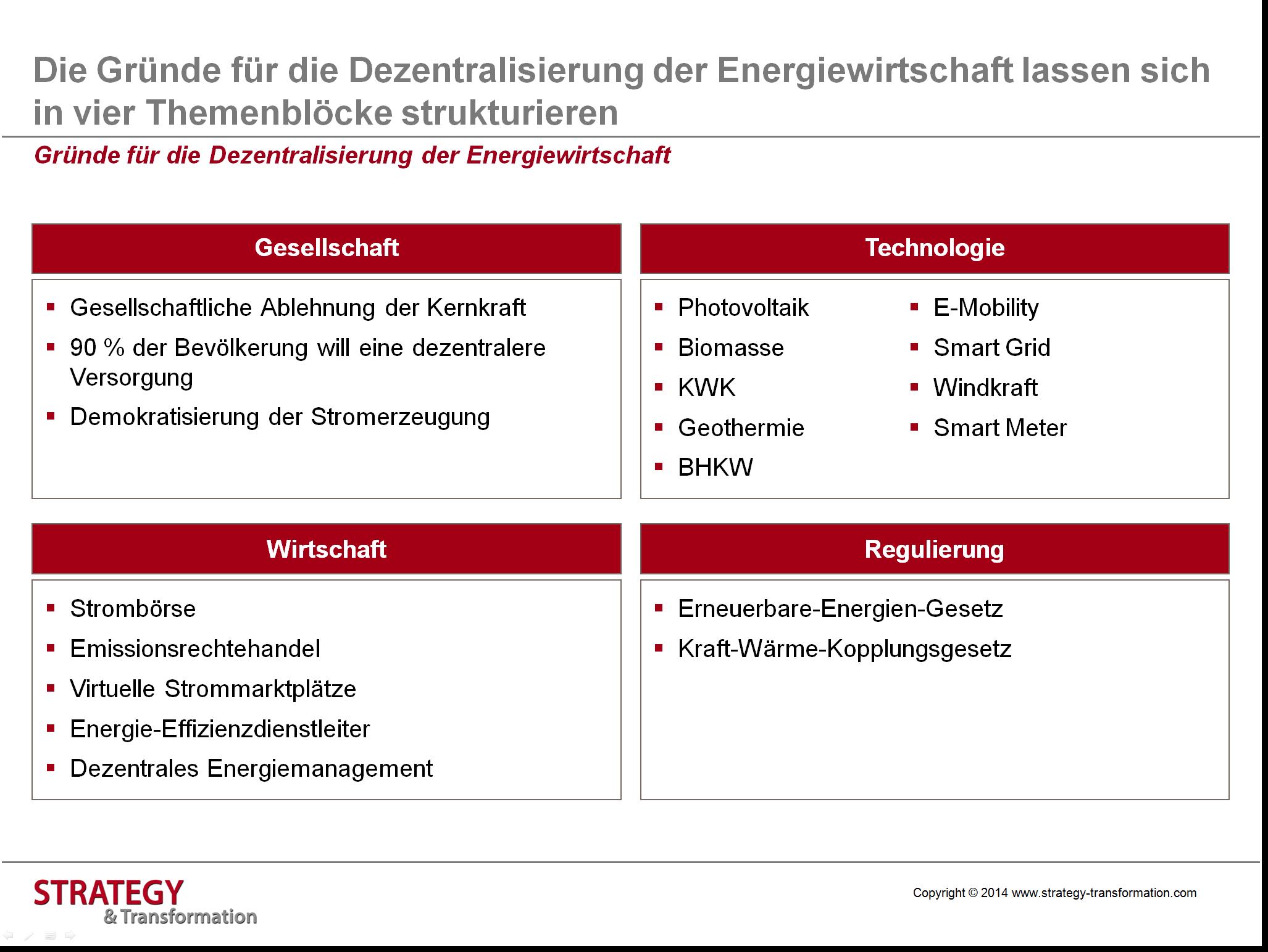 Digitale Transformation Energie_Gründe für Dezentralisierung in der Energiewirtschaft