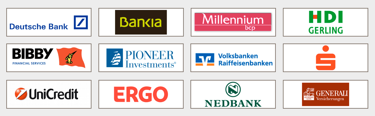 Unsere Kunden in Financial Services (Auswahl)