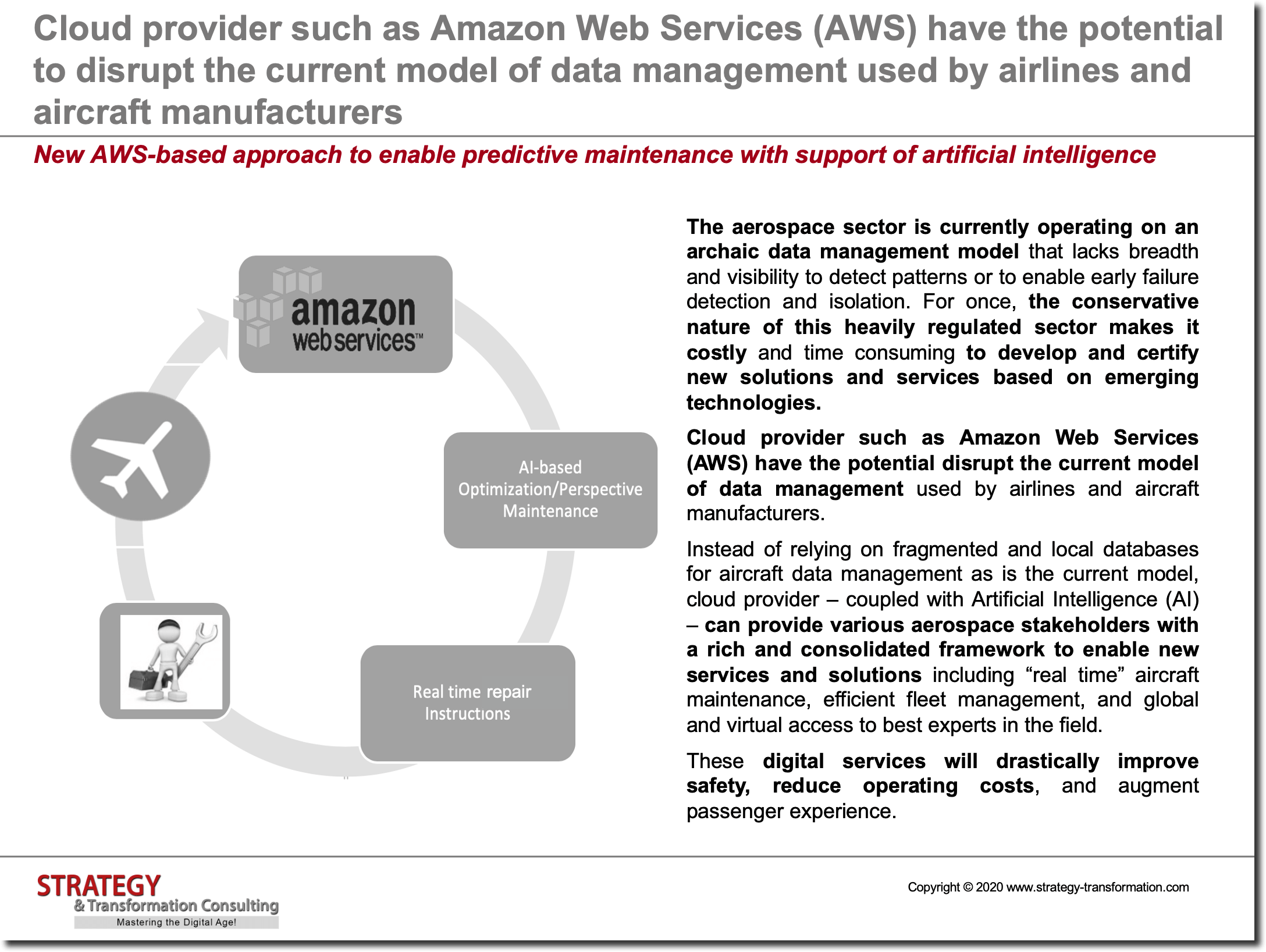 New AWS-based approach to enable predictive maintenance with support of artificial intelligence